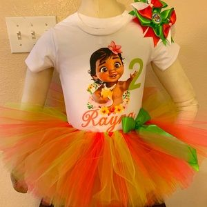 Baby Moana Birthday Party Tutu Outfit